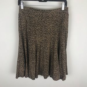 Ann Taylor Sz Small Brown Black Flare Patterned